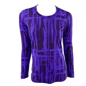 Under Armour Athletic Fit Top Small Purple Tie Dye